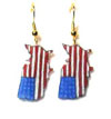 patriotic USA earrings