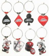 poker wine charms