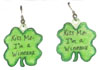 St Patrick's day earrings
