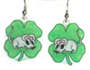 St Patrick's day mouse earrings