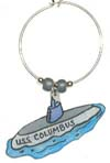 submarine wine charm