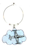 tf-33 shooting star Wine Charm