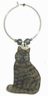 Tabby Maine Coon Cat Charms