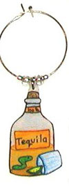 tequila bottle wine charm