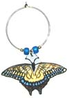 tiger swallowtail butterfly wine charm