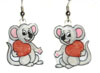 valentine's day mouse earrings