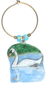 white swan wine charms