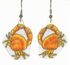 yellow crab earrings