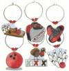 bowling charms in red