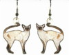 chocolate seal point siamese earrings
