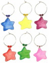 colorful star charms