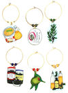 olive wine charms