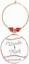 base ball wedding charm