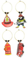 Personalized Fireman Charms