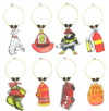 personalized fire fighter charms