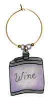flask wine charms
