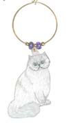 himalayan cat wine charm
