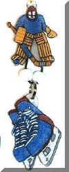 hockey theme water bottle tags