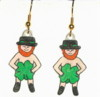 leprechaun earrings