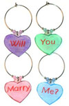 Valentine's Day candy heart style charms