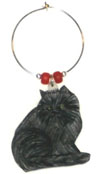 persian cat wine charm