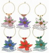 Poinsetta charms