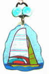 sailboat waterbottle charm