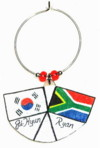 flag wedding favor charms